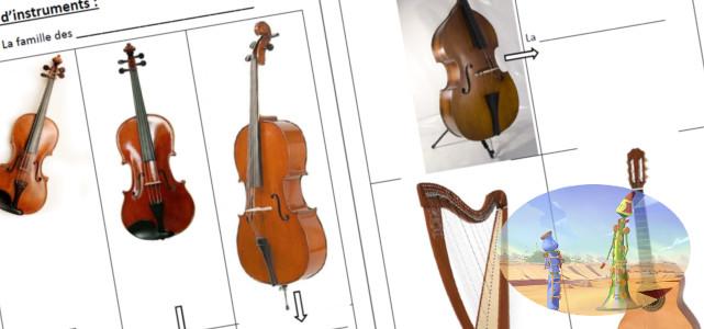 Bannière de la séquence sur les instruments classiques de la musique