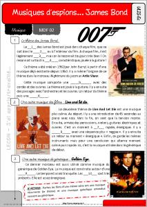 Fiche élève, séance 02 : James Bond