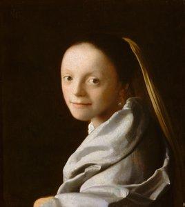 Portrait d'une jeune fille, peinture de Vermeer
